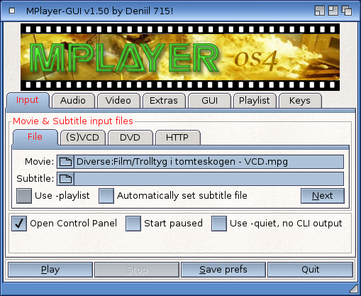 MPlayer-GUI